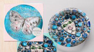 Rut Brykin teoskuvilla kuvitettu paperivaasi on näyttävä koriste kodin sisustukseen ja ihana jouluahja.
